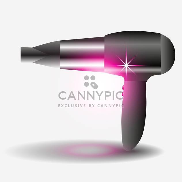 vector illustration of hair dryer on white background - Free vector #127728