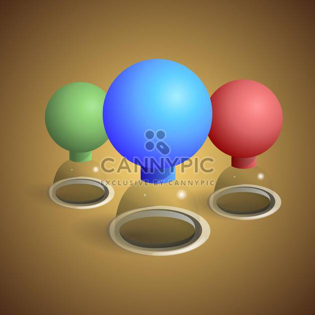 Vector illustration of colorful cupping-glasses on brown background - Free vector #127898