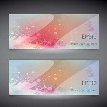 colorful template for business cards on grey background - vector gratuit #127978