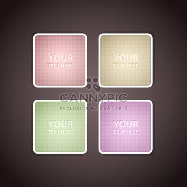 Vector square design elements on grey background - Free vector #127988