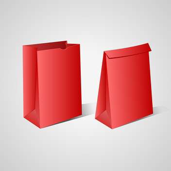 Two red paper bags on white background - vector gratuit #127998
