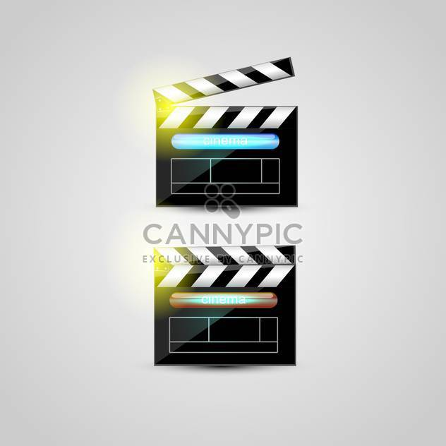 two clapper boards on grey background - Free vector #128018