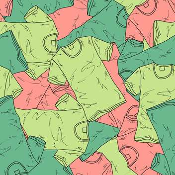 Vector background with different fashion t-shirts - Free vector #128038