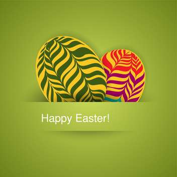 holiday background with easter eggs - vector gratuit #128058