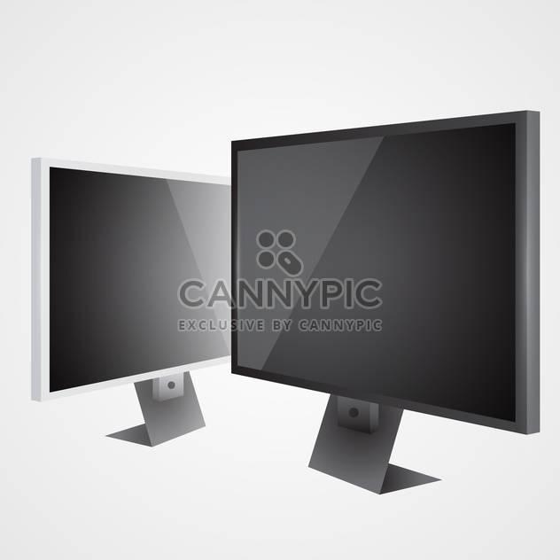 Zwei lcd-Fernseher auf grauen Hintergrund - Kostenloses vector #128078