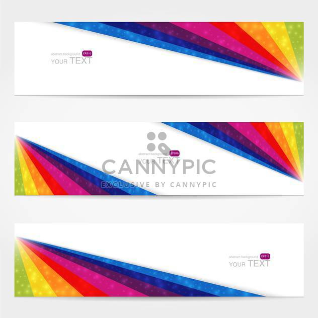 Website-Banner mit Text festgelegt - Free vector #128108