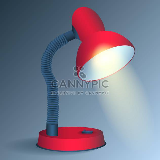 Red vector desk lamp - Free vector #128148