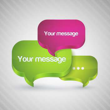 Speech bubbles for message, vector illustration - vector gratuit #128178