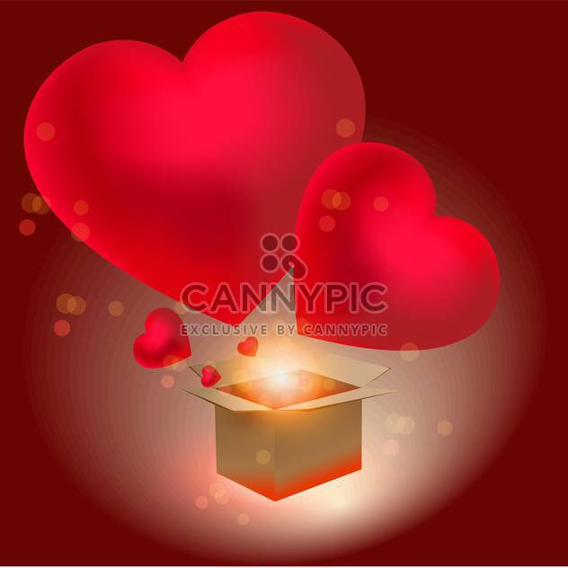 Heart gift for Valentine's day, vector background - Free vector #128238