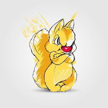 Angry yellow squirrel, vector illustration - Kostenloses vector #128248