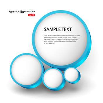 Background with abstract bubbles and place for text - vector gratuit #128288