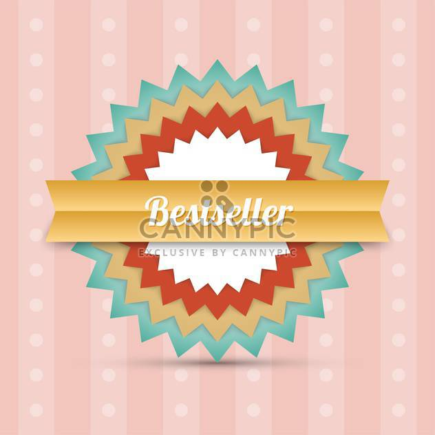 Vector label bestseller background - Free vector #128308