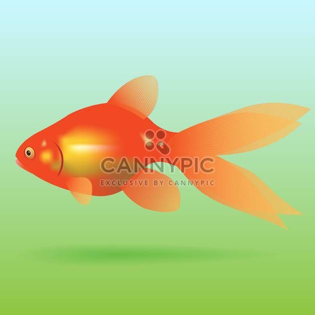 swimming goldfish vector icon - Free vector #128338
