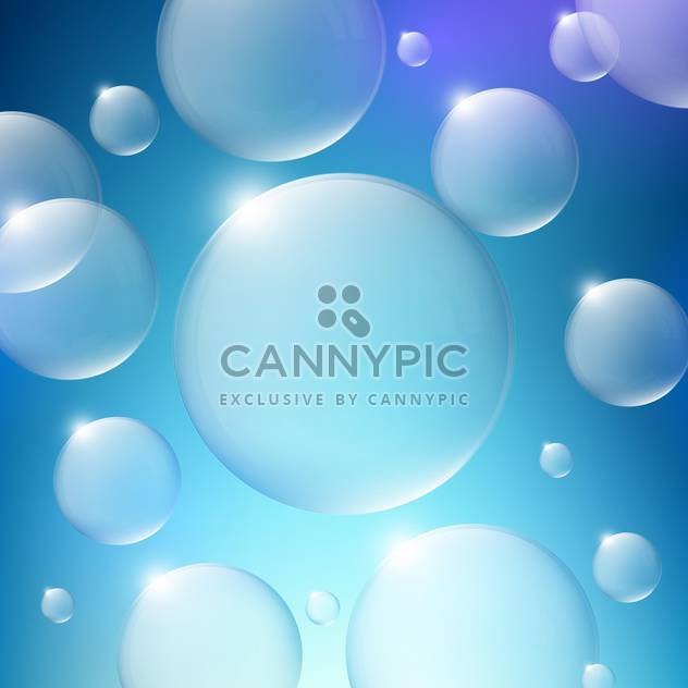 random water bubbles on blue background - Free vector #128348