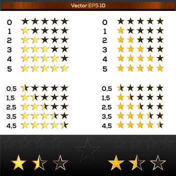 Yellow rating stars vector set - Free vector #128438