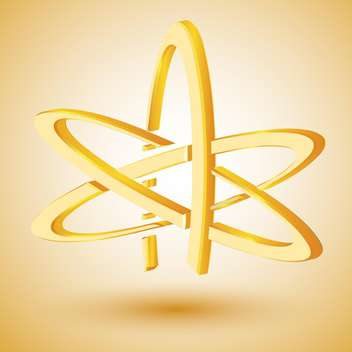 Vector illustration of golden symbol of atheism - Free vector #128498