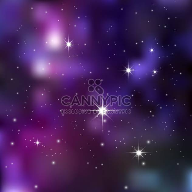 Dark night sky with sparkling stars and planets - Free vector #128518