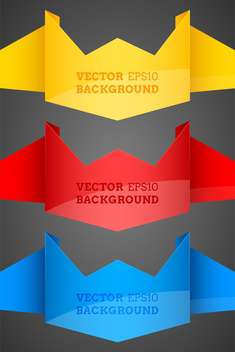 Abstract vector origami backgrounds - vector gratuit #128578