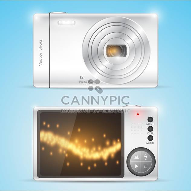 Vektor-Illustration der kompakten Digitalkamera - Kostenloses vector #128588