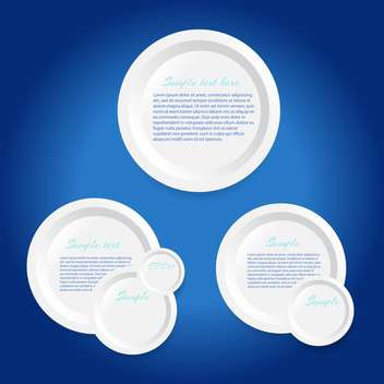 Circle vector frames on blue background - Free vector #128628