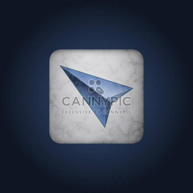 Vector blue cursor icon on marble background - Free vector #128678