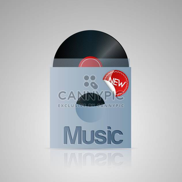 Vector illustration of vinyl music disc. - Free vector #128728