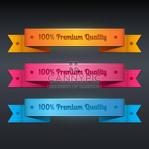 Vector set of ribbon collection of premium quality - Free vector #128768