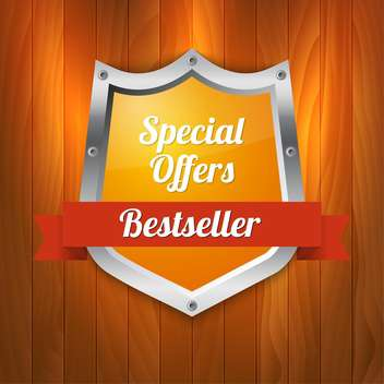 Vector illustration of special offers and bestseller shield - vector gratuit #128808