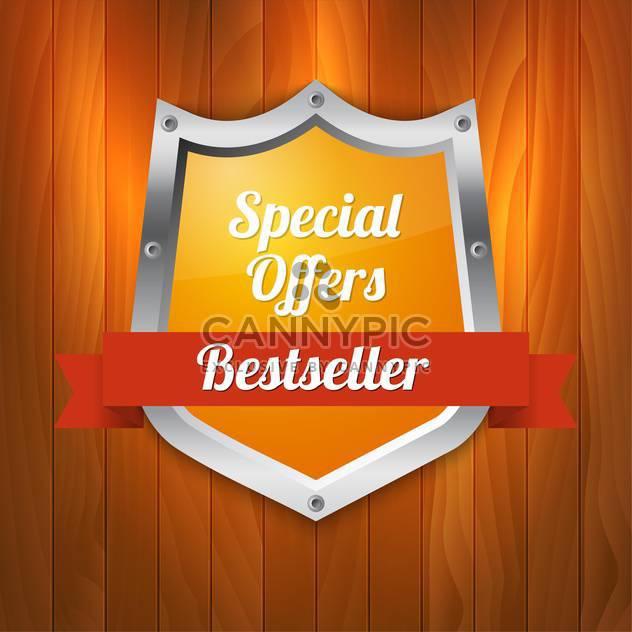 Vektor-Illustration über Sonderangebote und Bestseller-Schild - Free vector #128808