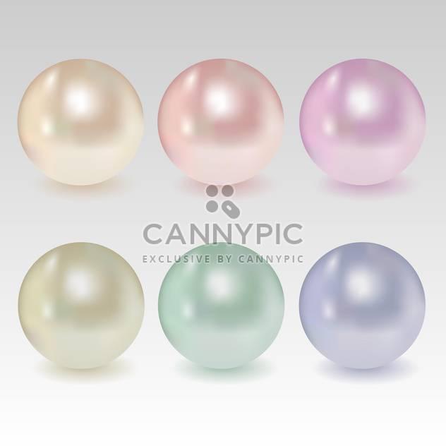 Vektor-set sphärische Perlen in verschiedenen Farben. - Kostenloses vector #128848