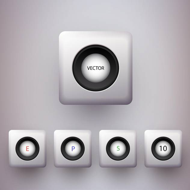 Vector set of colorful 3d buttons. - vector #128878 gratis