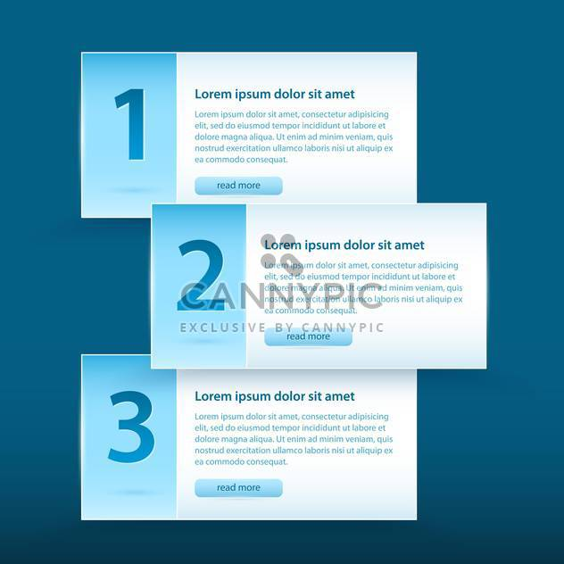 Vector web banners with numbers and read more button - Free vector #128908