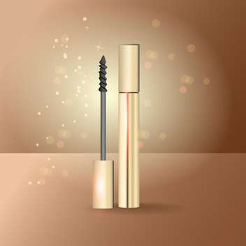 Vector illustration of mascara on beige background - Free vector #128948