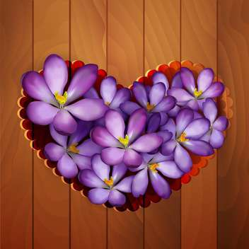 vector floral heart background - vector gratuit #128988