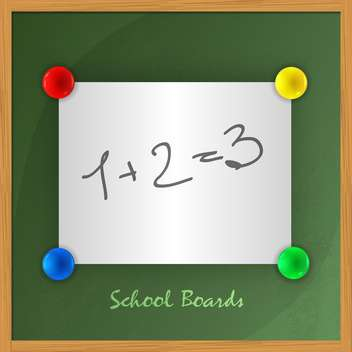 math background on school chalkboard - vector gratuit #129008