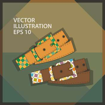 vector set of leather belts - Free vector #129028