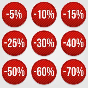 set of discount shopping labels - Kostenloses vector #129098
