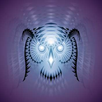 luminous owl vector head - Free vector #129138
