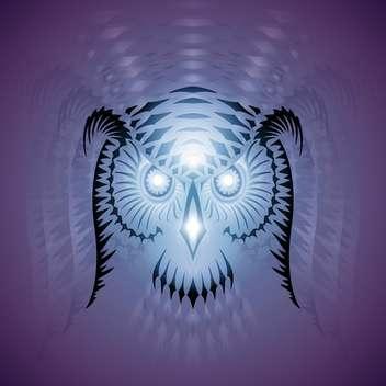 luminous owl vector head - vector gratuit(e) #129138
