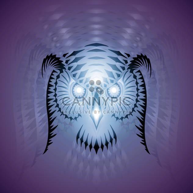 luminous owl vector head - Free vector #129138