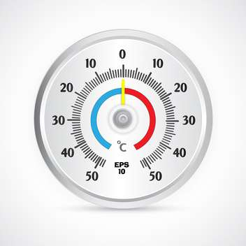 round thermometer vector illustration - Kostenloses vector #129148