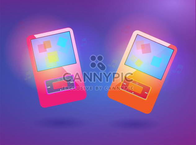 set of vector media players - Free vector #129208