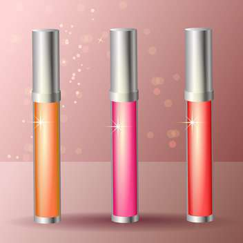 female lip gloss sticks set - Free vector #129228