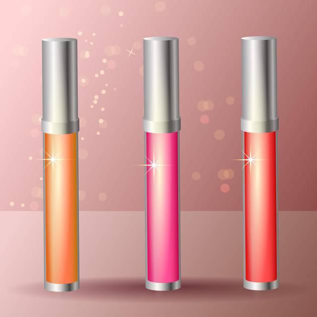 female lip gloss sticks set - Free vector #129228