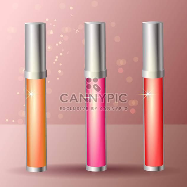 weibliche Lipgloss klebt Satz - Kostenloses vector #129228