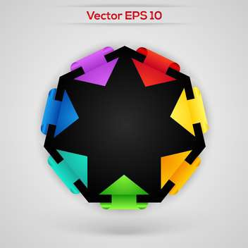set of vector paper stickers arrows - бесплатный vector #129238