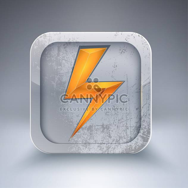 Vector electricity icon with orange lightning bolt - Free vector #129318