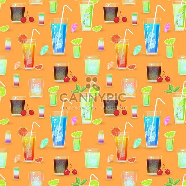 Vektor nahtlose Muster mit cocktails - Kostenloses vector #129428