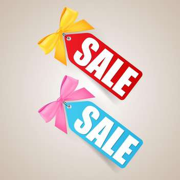 Vector sale colorful labels with bows - Free vector #129438