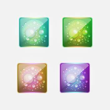 Vector set of colorful aqua buttons on gray background - бесплатный vector #129488